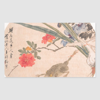 Flower and Toad - Zhang Xiong (Chinese, 1803–1886) Sticker