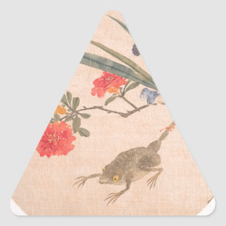 Flower and Toad - Zhang Xiong (Chinese, 1803–1886) Triangle Sticker