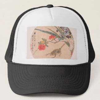 Flower and Toad - Zhang Xiong (Chinese, 1803–1886) Trucker Hat