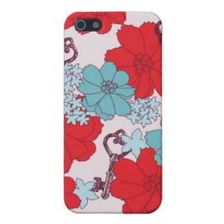 Flower and Vintage Key Speck Case iPhone 5 Case