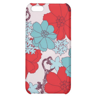 Flower and Vintage Key Speck Case iPhone 5C Covers