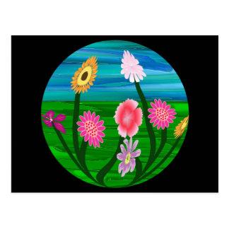 Flower Aquarium Postcard