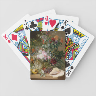Flower Arrangement and Seashell Bicycle Playing Cards