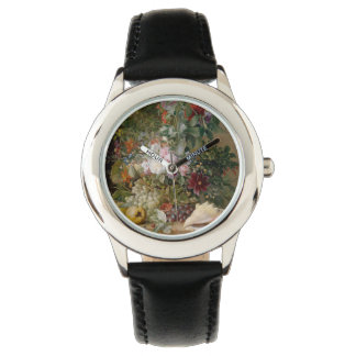 Flower Arrangement and Seashell Wrist Watch