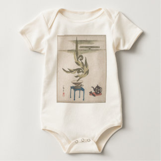 Flower Arrangement - Utagawa Itchinsai Baby Bodysuit