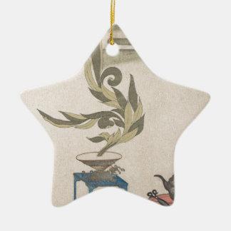 Flower Arrangement - Utagawa Itchinsai Ceramic Star Ornament