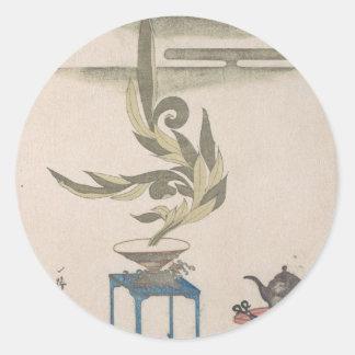Flower Arrangement - Utagawa Itchinsai Classic Round Sticker