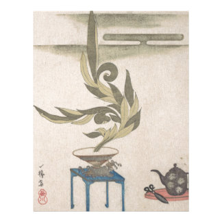 Flower Arrangement - Utagawa Itchinsai Letterhead
