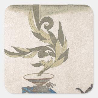 Flower Arrangement - Utagawa Itchinsai Square Sticker