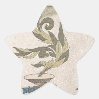 Flower Arrangement - Utagawa Itchinsai Star Sticker