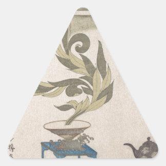 Flower Arrangement - Utagawa Itchinsai Triangle Sticker
