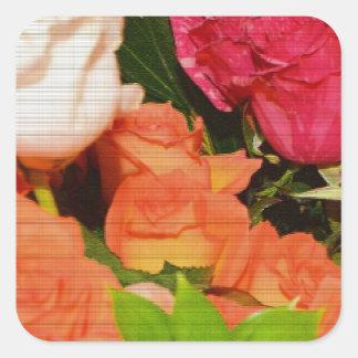 Flower Arrangements Wedding Party Colorful Destiny Square Sticker