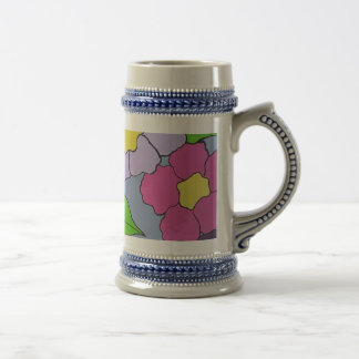 Flower Art Beer Stein