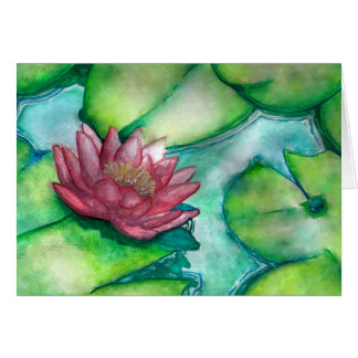 Flower art greeting card