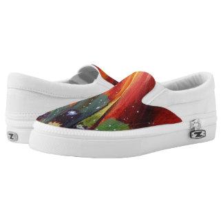 Flower Art  Zipz Slip On Shoes, UK: 3 / EUR: 35.5
