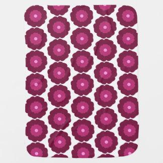 Flower baby blanket - pink