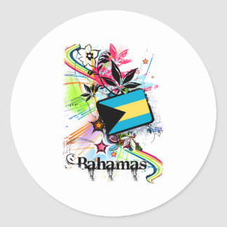 Flower Bahamas Round Sticker