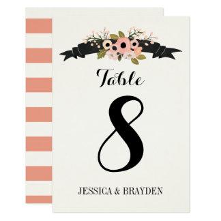 Flower Banner - Table Card