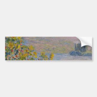 Flower Beds at Vetheuil by Claude Monet Bumper Sticker