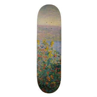 Flower Beds at Vetheuil by Claude Monet Skate Board