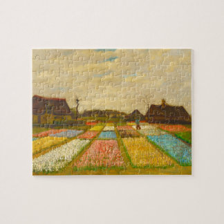 Flower Beds in Holland by van Gogh Puzzle