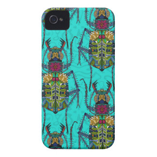 flower beetle turquoise iPhone 4 cover