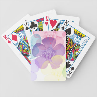flower bicycle playing cards