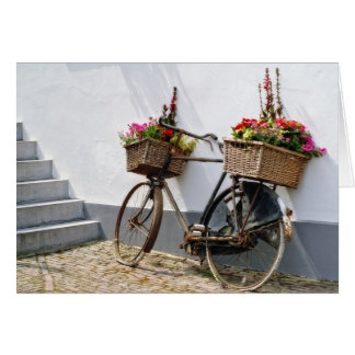 Flower Bike Greeting Card