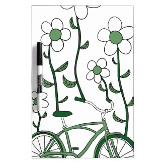 Flower Bike Dry Erase Board