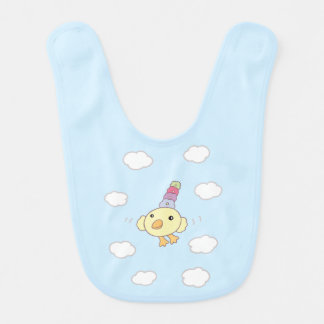 Flower Bird Baby Bib