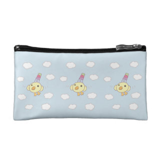 Flower Bird Cosmetic Case