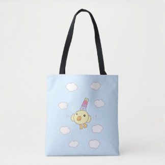 Flower Bird Tote Bag