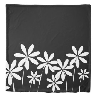Flower Bliss2 Black & White Duvet Cover