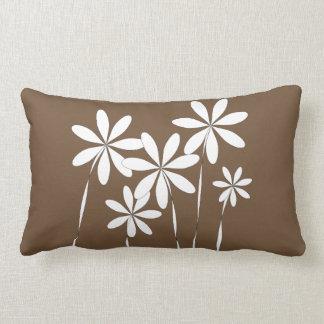 Flower Bliss on Brown Lumbar Pillow
