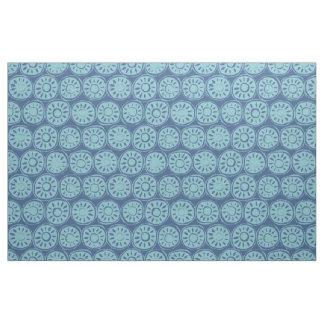 flower block blue fabric
