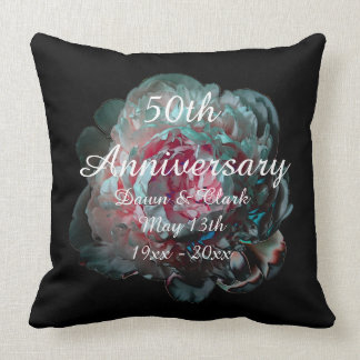 Flower Bloom Anniversary Pillow