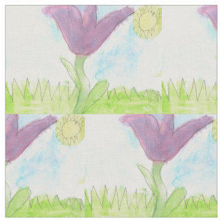 flower blooming in the sun fabric