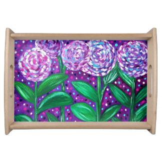 Flower Blooms Serving Tray