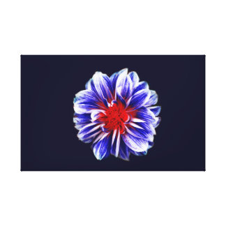 Flower Blossom | Blue| Bloom Canvas Print