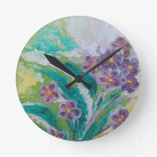 Flower blossom round clock