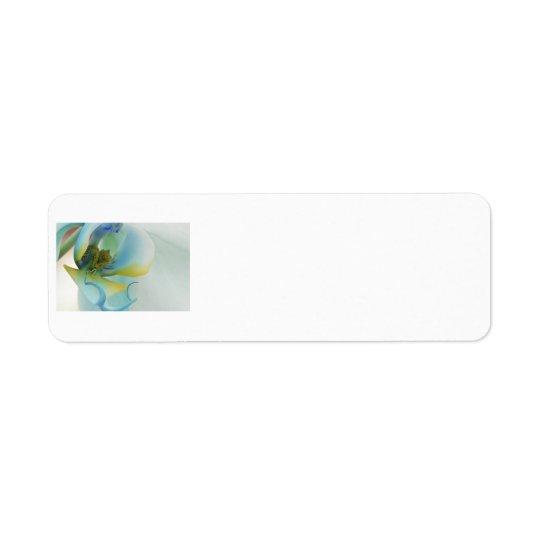 Flower Blue Orchid Return Address Label