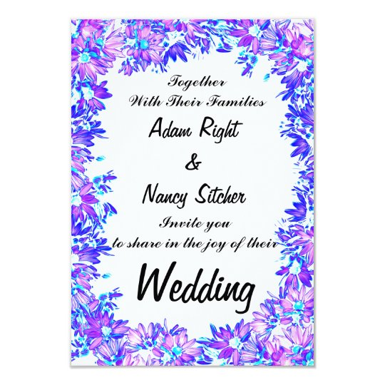 Flower Boarder, Custom Wedding Invitation