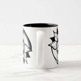 Flower Bold Henna Flow Black White Mug