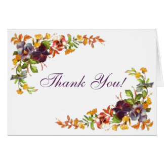 Flower border Thank You! Greeting Card