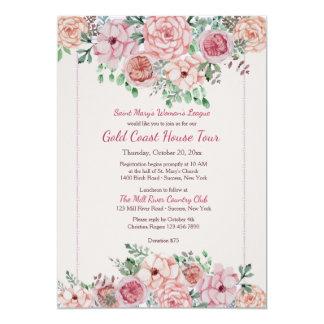 Flower Borders Invitation
