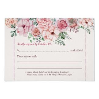 Flower Borders RSVP Card