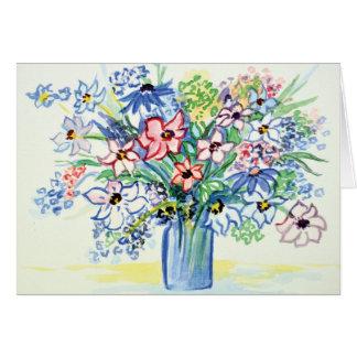 Flower bouquet card