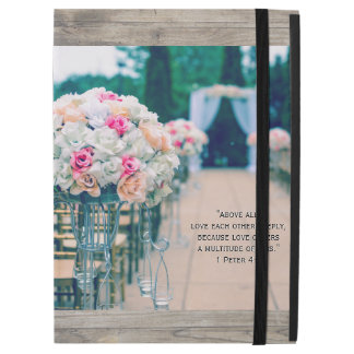 "Flower Bouquet Love and Wedding Aisle Bible Verse iPad Pro 12.9"" Case"