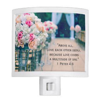 Flower Bouquet Love and Wedding Aisle Bible Verse Night Lites