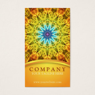 Flower Bouquet Mandala Business Card
